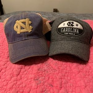 2 Legacy UNC Tarheels adjustable trucker hats
